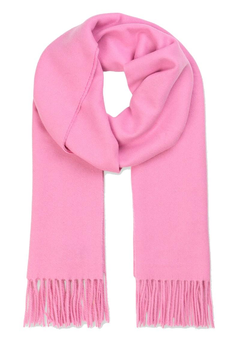 SAMSOE & SAMSOE Accola Maxi Wool Mix Scarf - Bubblegum Pink main image