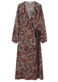 Lily and Lionel Trixie Long Sleeve Wrap Dress - Paisley