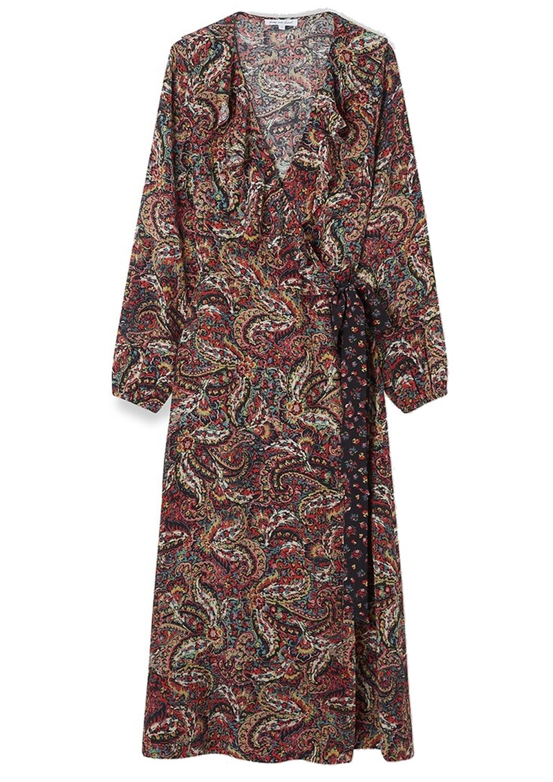 Lily and Lionel Trixie Long Sleeve Wrap Dress - Paisley main image