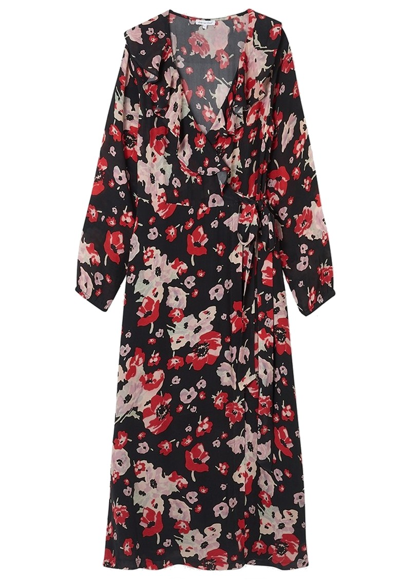 Lily and Lionel Trixie Long Sleeve Wrap Dress - Sweet Pea main image