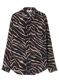 Lily and Lionel Classic Silk Shirt - Tiger Black