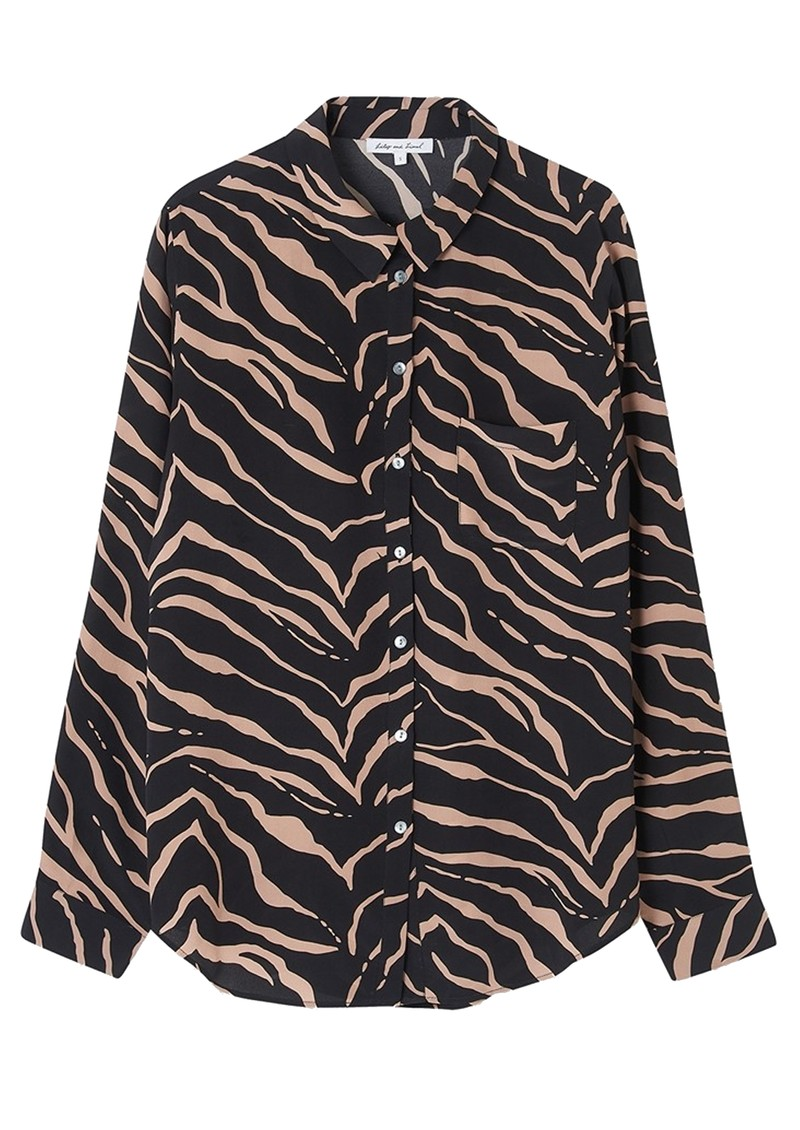 Lily and Lionel Classic Silk Shirt - Tiger Black main image