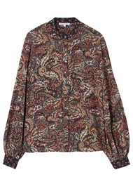 Lily and Lionel Maddox Silk Shirt - Paisley