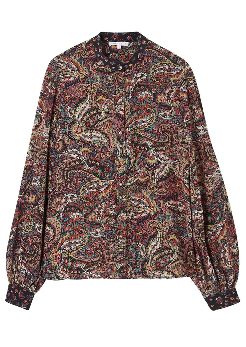 Lily and Lionel Maddox Silk Shirt - Paisley main image
