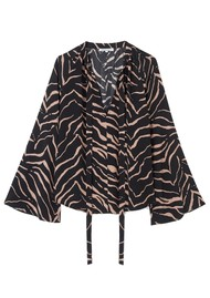 Lily and Lionel Etta Silk Top - Tiger Black
