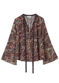 Lily and Lionel Etta Silk Top - Paisley