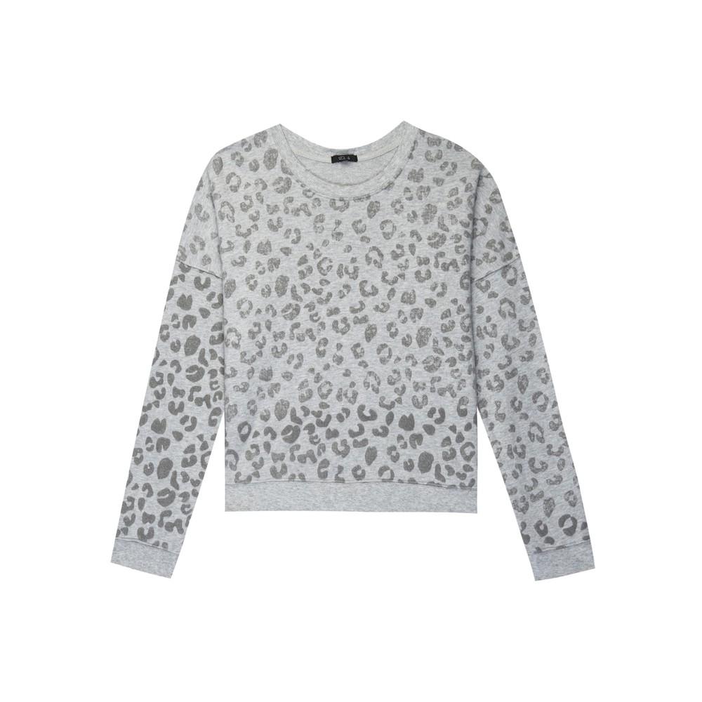 Marlo Sweater - Grey Leopard