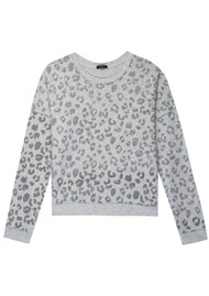 Rails Marlo Sweater - Grey Leopard