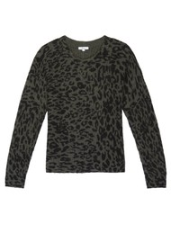 Rails Joanna Leopard Pullover - Olive Leo