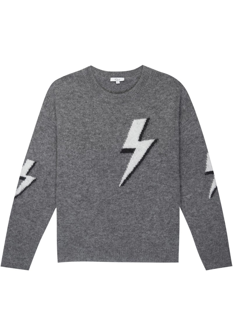 Virgo Grey Lightning Bolt Jumper   Bolted by Rails