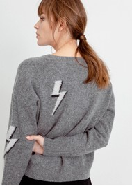 Rails Virgo Grey Lightning Bolt Jumper - Bolted