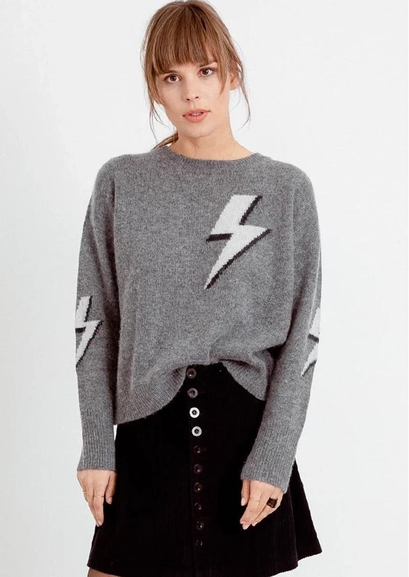Rails Virgo Grey Lightning Bolt Jumper - Bolted main image