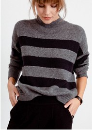 Rails Ellise Stripe Jumper - Charcoal Stripe