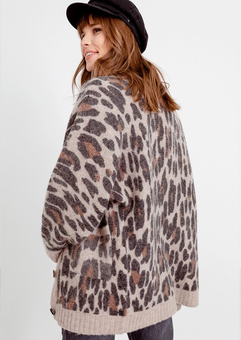 Rails Oslo Leopard Cardigan - Spot Hazel  main image