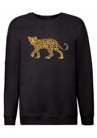 ON THE RISE Stalking Leopard Sweatshirt - Black