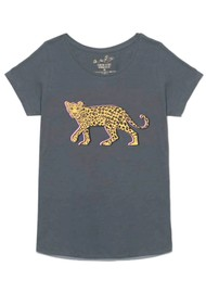 ON THE RISE Stalking Leopard T-Shirt - Grey