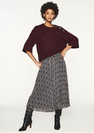Ba&sh Pichu Midi Skirt - Dark Night