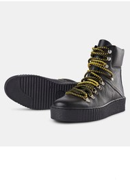 SHOE THE BEAR Agda Leather Lace Up Boot - Black