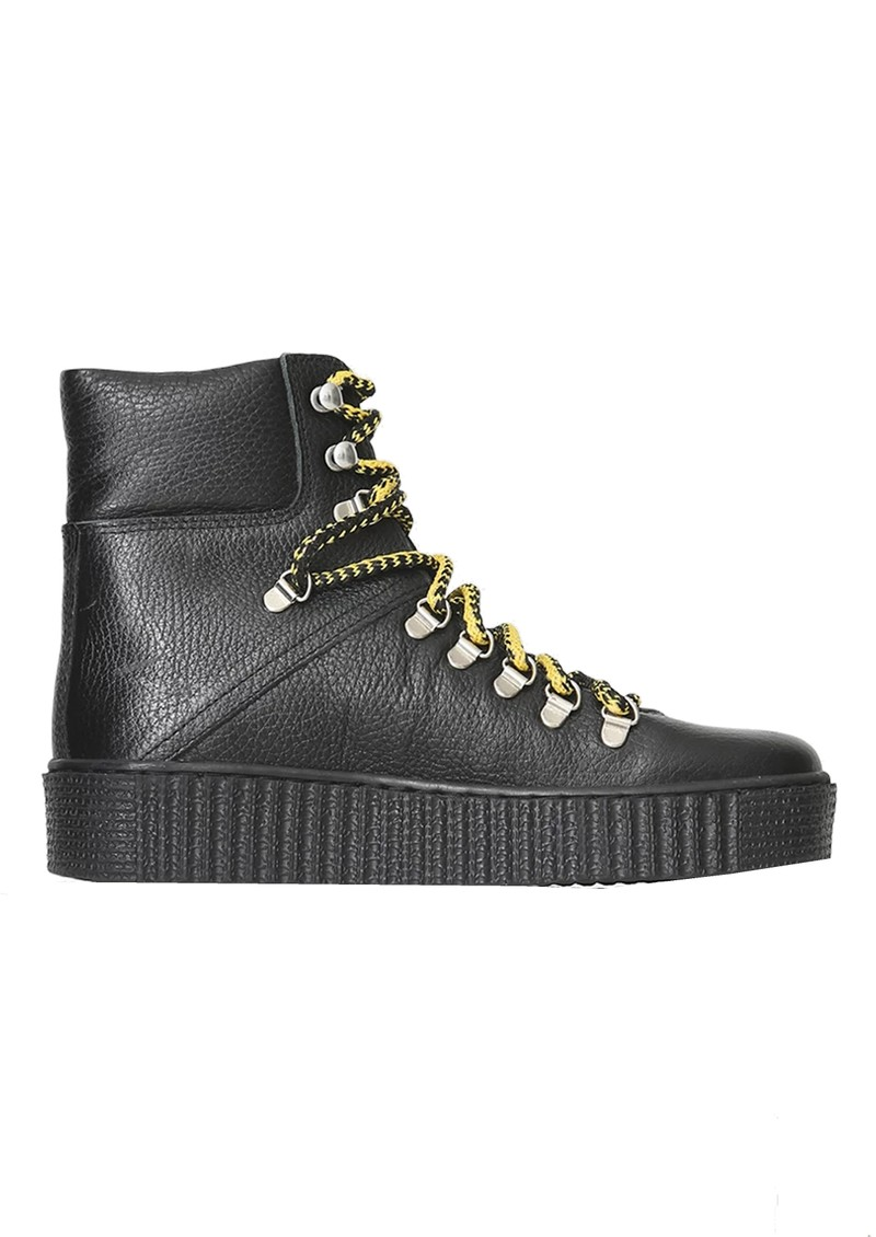 SHOE THE BEAR Agda Leather Lace Up Boot - Black main image
