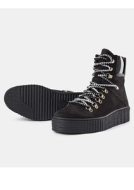 SHOE THE BEAR Agda Nubuck Lace Up Boot - Black