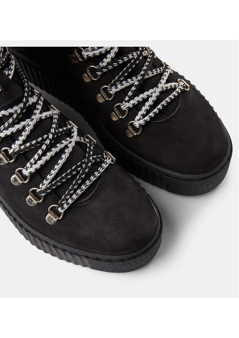 SHOE THE BEAR Agda Nubuck Lace Up Boot - Black main image