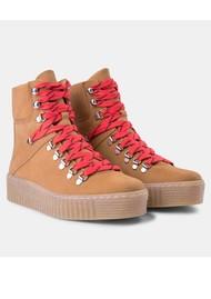 SHOE THE BEAR Agda Nubuck Lace Up Boot - Tan