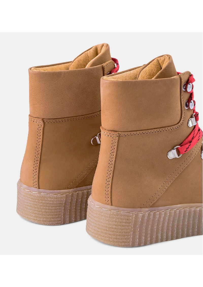 SHOE THE BEAR Agda Nubuck Lace Up Boot - Tan main image