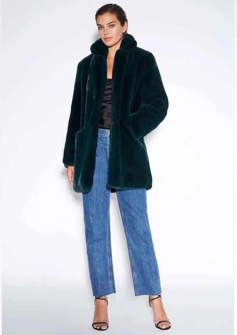 APPARIS Sophie Faux Fur Coat - Emerald main image