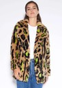 APPARIS Chloe Faux Fur Coat - Neon Leopard