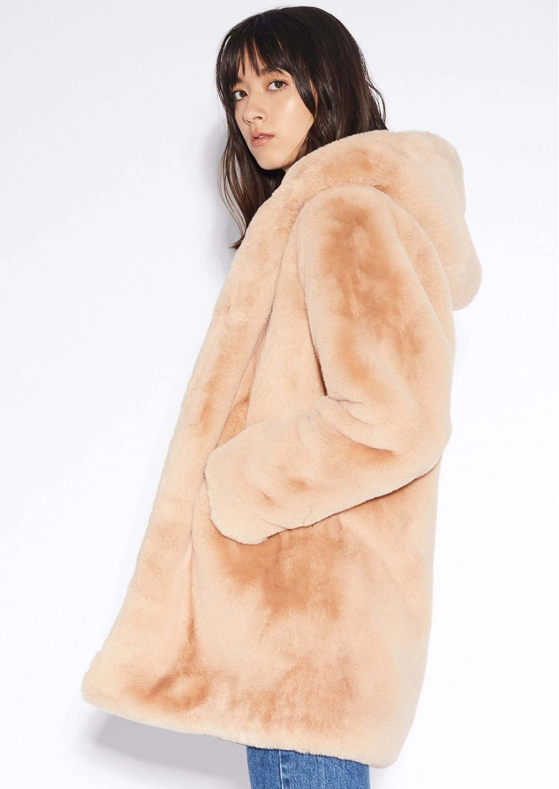 APPARIS Marie Faux Fur Coat - Sand main image
