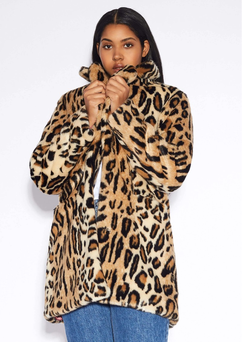 APPARIS Margot Faux Fur Coat - Leopard main image