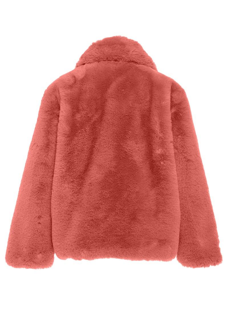 APPARIS Manon Faux Fur Jacket - Rose main image