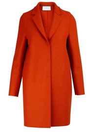 HARRIS WHARF Cocoon Wool Coat - Burnt Orange