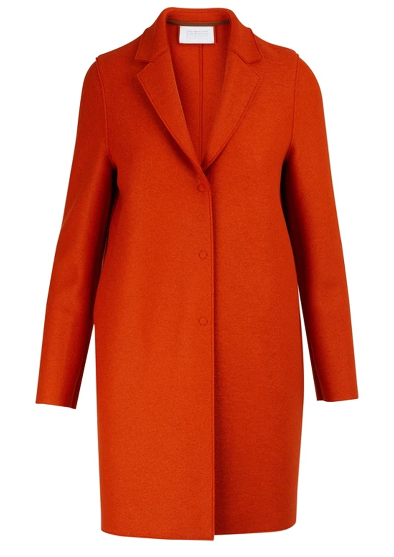 HARRIS WHARF Cocoon Wool Coat - Burnt Orange main image