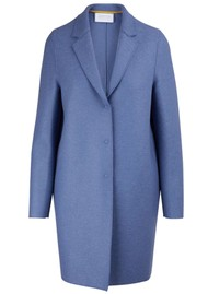 HARRIS WHARF Cocoon Wool Coat - Powder Blue