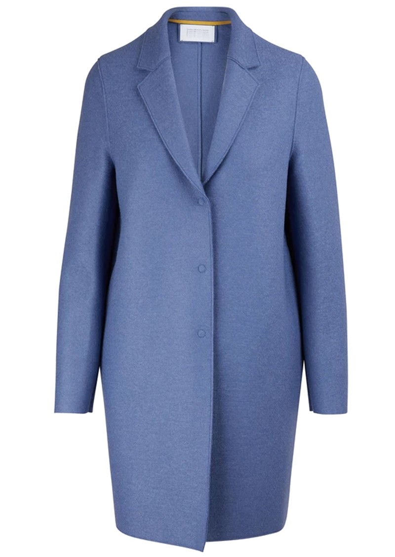HARRIS WHARF Cocoon Wool Coat - Powder Blue main image
