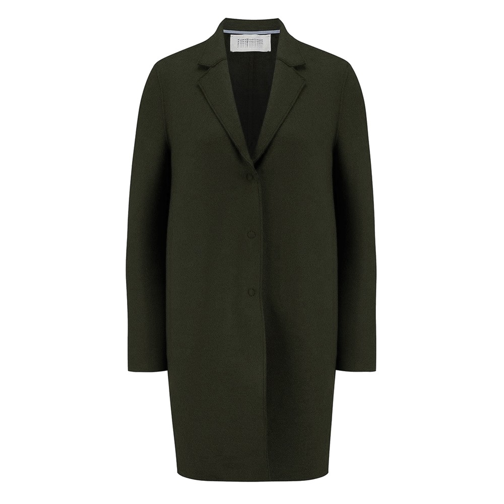 Cocoon Wool Coat - Army Green