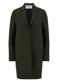 HARRIS WHARF Cocoon Wool Coat - Army Green
