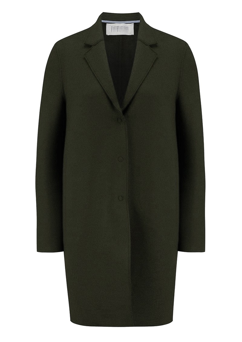 HARRIS WHARF Cocoon Wool Coat - Army Green main image