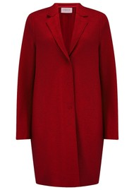 HARRIS WHARF Cocoon Wool Coat - College Red