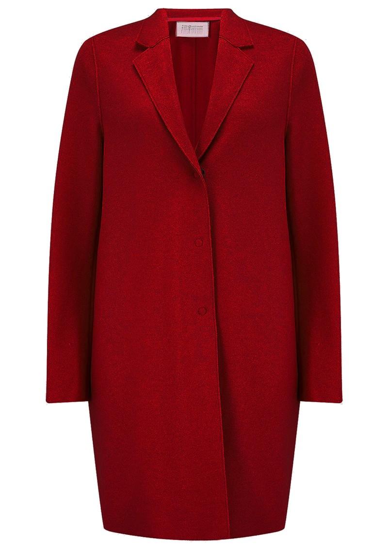 HARRIS WHARF Cocoon Wool Coat - College Red main image