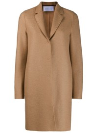 HARRIS WHARF Cocoon Wool Coat - Tan