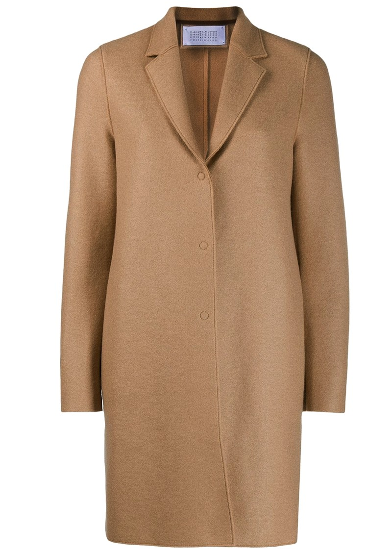 HARRIS WHARF Cocoon Wool Coat - Tan main image