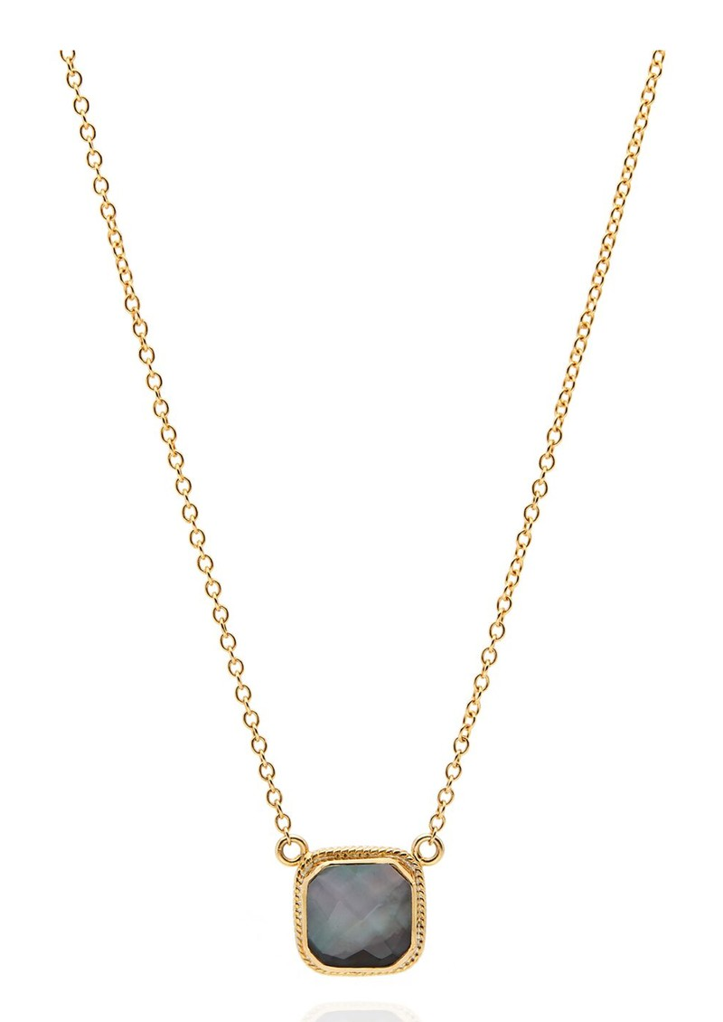 ANNA BECK Dreamy Dusk Grey Quartz Cushion Necklace - Gold main image