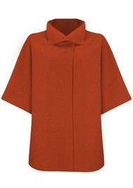 HARRIS WHARF Kimono Coat - Burnt Orange