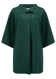 HARRIS WHARF Kimono Coat - Bottle Green