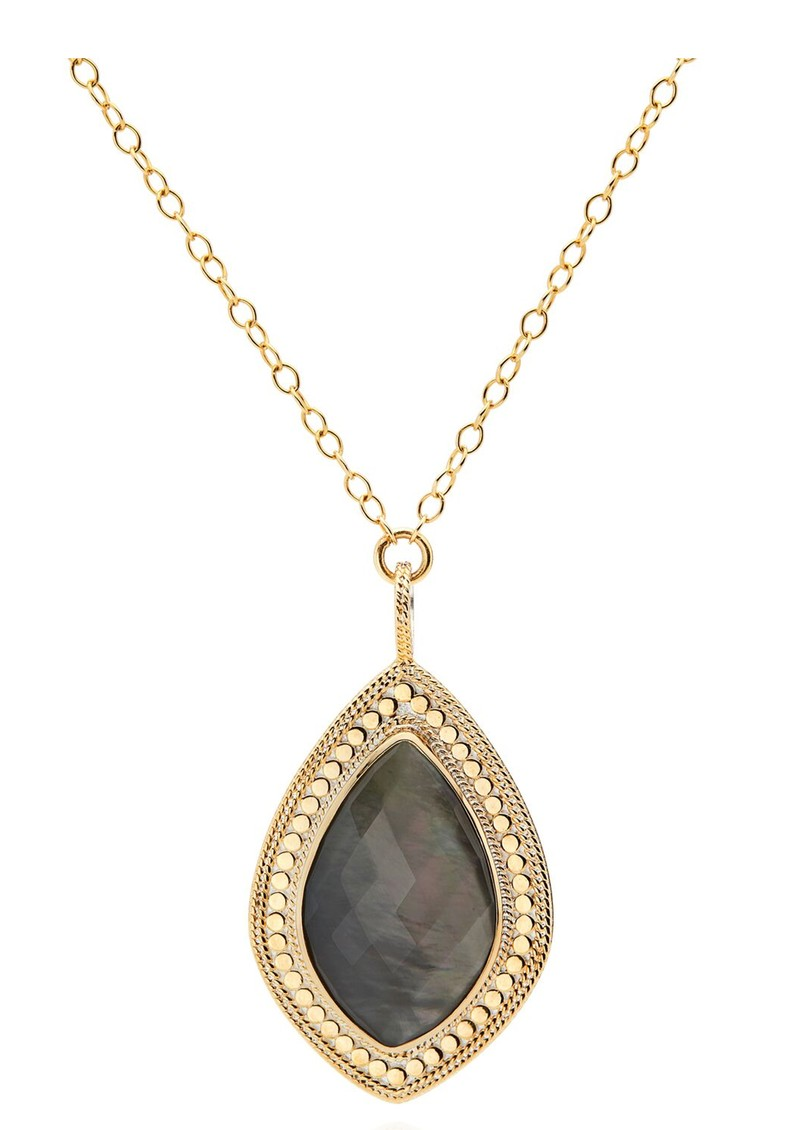 ANNA BECK Dreamy Dusk Grey Quartz Pendant Necklace - Gold main image