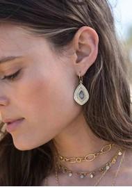 ANNA BECK Dreamy Dusk Grey Quartz Drop Earrings - Gold