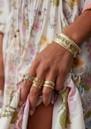 ANNA BECK Dreamy Dusk Grey Quartz Multi Stone Cuff - Gold