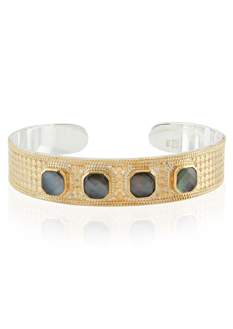 ANNA BECK Dreamy Dusk Grey Quartz Multi Stone Cuff - Gold main image
